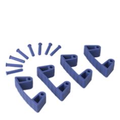 4 clips de goma para 1017 e 1018, 75mm