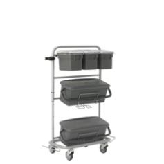 Slimliner Armário móvel, com acessórios, 40cm, Cinza